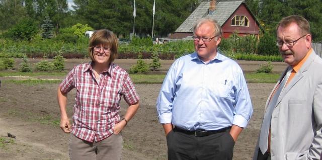 Göran Persson besöker Rundaini i Lettland i augusti 2012