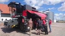 Under huven på Massey Fergusons MF Delta Hybrid-tröska