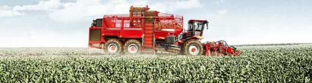 Beet harvester / self-propelled / top lift